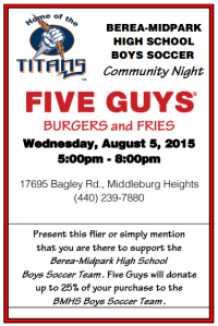 Five Guys Fundraiser